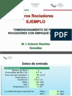 Filtros Rociadores Ejemplos de Excel