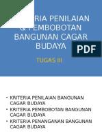 CONSERV-ARC Tugas III Kriteria Pembobotan