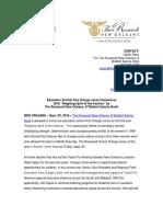 Reigning Spirit of the Sazerac - Press Release