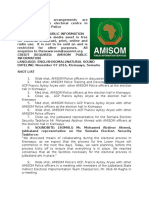 Security arrangements are satisfactory at the electoral centre in Kismaayo - AMISOM Police