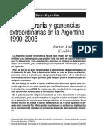 Renta agraria y ganancias extraordinarias en la Aegentina (Arceo, Rodriguez)