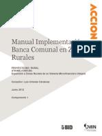 IDB-Manual Implementacion Banca Comunal