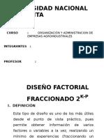 Diseño Factorial Fraccionado 2k
