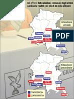 Gli effetti delle elezioni negli ultimi anni nei comuni con di 15 mila abitanti
