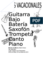 Afiche Musica Clases