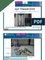 ensayo triaxial (CU)