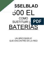Hasselblad 500 EL BATERÍAS