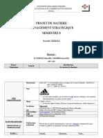 Projet de Matière Adidas Stratégie S8