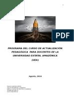 UEA Actualización pedagógica