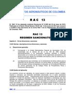 RAC 13 - Régimen Sancionatorio