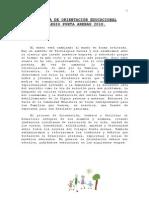 PROGRAMA DE ORIENTACIÓN 2010
