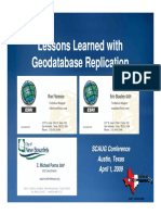 Lessons Learned With Geodatabase Replication