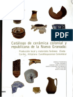 Catálogo de cerámica colonial y republicana de la Nueva Granada.