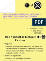 PNLyE diseño evaluación