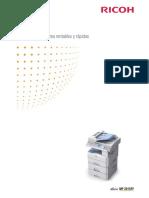 Impresora Catalogo Aficio MP 201 S PF