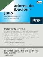 Indicadores de Distribución – Hasta JULIO