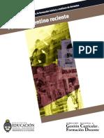 Pasado Argentino Reciente- Cine y Memoria