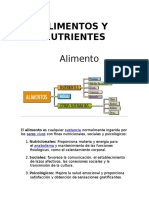 Alimentos y Nutrientes. Juan