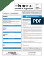 Boletín Oficial de la República Argentina, Número 33.498. 07 de noviembre de 2016