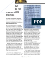 Water Code for Sustainable Homes Article