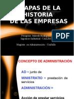 Etapas de La Historia de Las Empresas Segunda