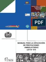 prestaciones hospitalarias Bolivia - Manual Ambulatorio