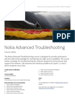 Nokia Advanced Troubleshooting SRC Course Outline Document En