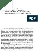 Ratzinger - Benedetto XVI  Cristo e la Chiesa  Problemi attuali di teologia e conseguenze per la catechesi pdf