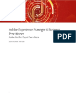 Adobe Experience Manager 6 Business Practitioner Sample Exam