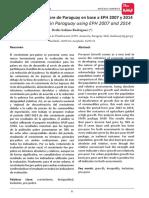 Crecimiento pro-pobre de Paraguay en base a EPH 2007 y 2014