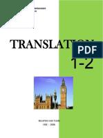 Translation 1 2