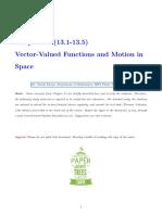 Chap13 Vector Functions