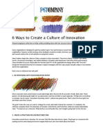 6 Ways to Create a Culture of Innovation