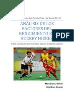 Análisis de Los Factores de Rendimiento en Hockey Hierba