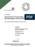 Dr. Felipe Medalla Financial Sector