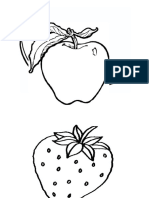 Fruits Colouring Picture
