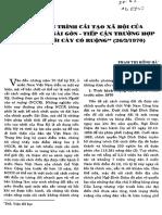 Chương Trình Cải Tạo Xã Hội Của Chính Quyền Sài Gòn – Luật Người Cày Có Ruộng - Phạm Thị Hồng Hà