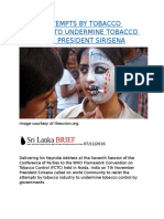 RESIST ATTEMPTS BY TOBACCO INDUSTRY TO UNDERMINE TOBACCO CONTROL.docx