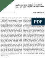 Tìm Hiểu Chương Trình Viện Trợ Thương Mại Của Hoa Kỳ Cho VNCH - Phạm Thị Hồng Hà