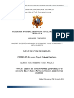 Gestión de Contaminantes Generados Por El Consumo de Productos Farmaceuticos en Ecosistemas Acuaticos