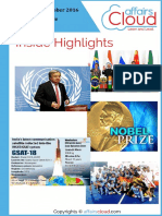 Current Affairs Study PDF - October 2016 by AffairsCloud