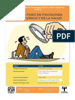 Foro de Psicologia Clinica y de La Salud