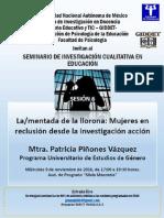 Semin Inv Cualitativa en Educacion La Mentada de La Llorona