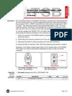 RS3000 Door Lock Reprogram