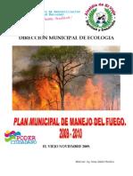 Plan de Manejo Fuego Del Fuego Del Municipio El Viejo. 09 10