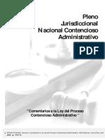 COMENTARIOS A LA LEY DEL PRROCESO CONTENCIOSO ADMINISTATIVO