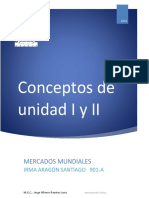 Conceptos de la unidad I y II
