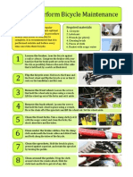 Bicycle Maintenance Instructions