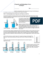 Properties of gases Lab report