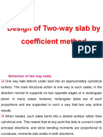 Two Way Slab (by Coefficients)